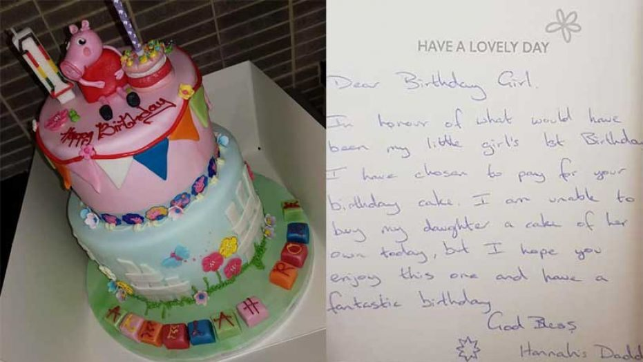Brilliant Anonymous Dad Buys Cake For Strangers Niece On His Late Funny Birthday Cards Online Bapapcheapnameinfo