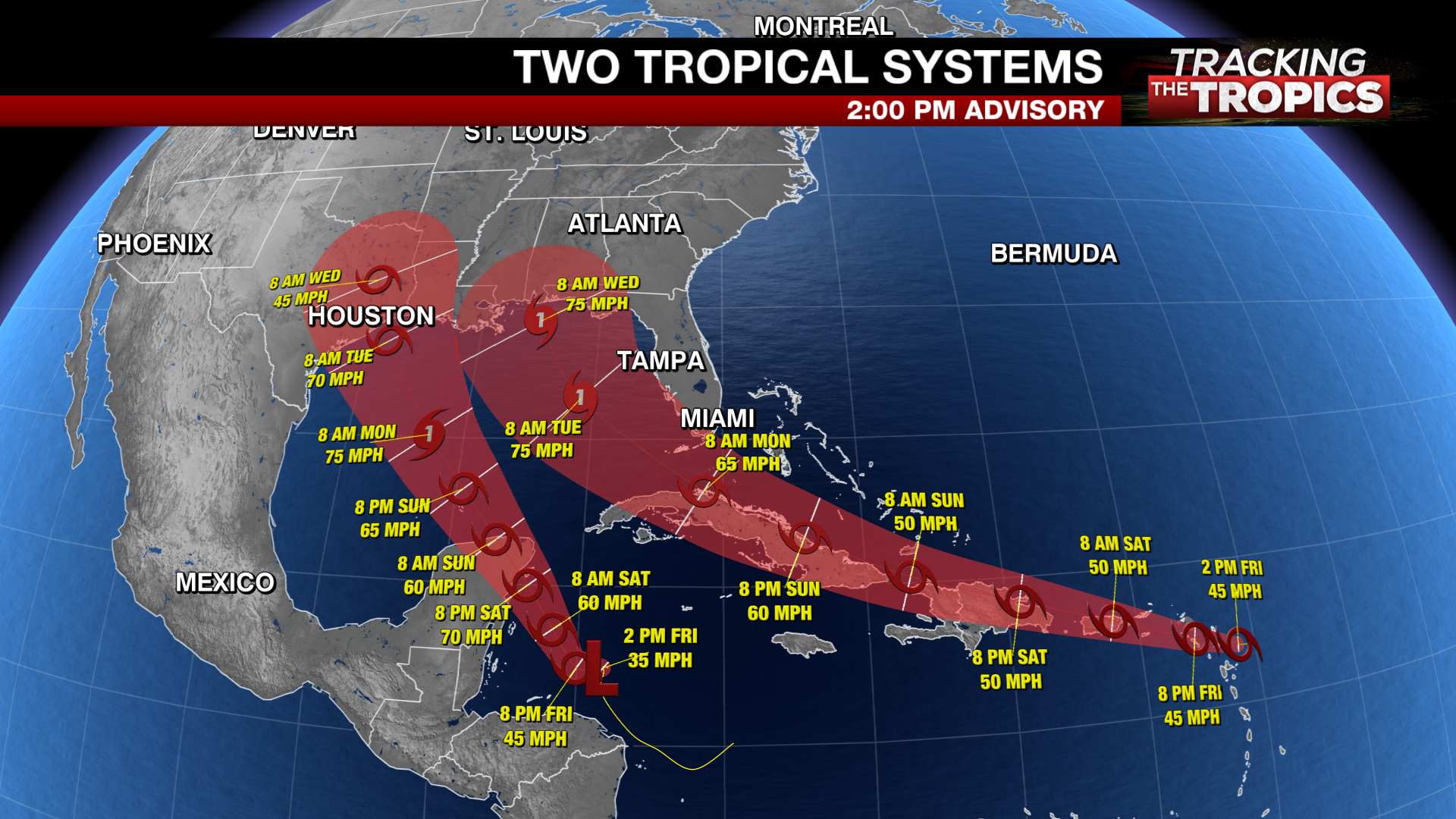 Tracking The Tropics Tropical Storm Laura S Track Shifts West Marco Expected To Form Soon Fox 46 Charlotte
