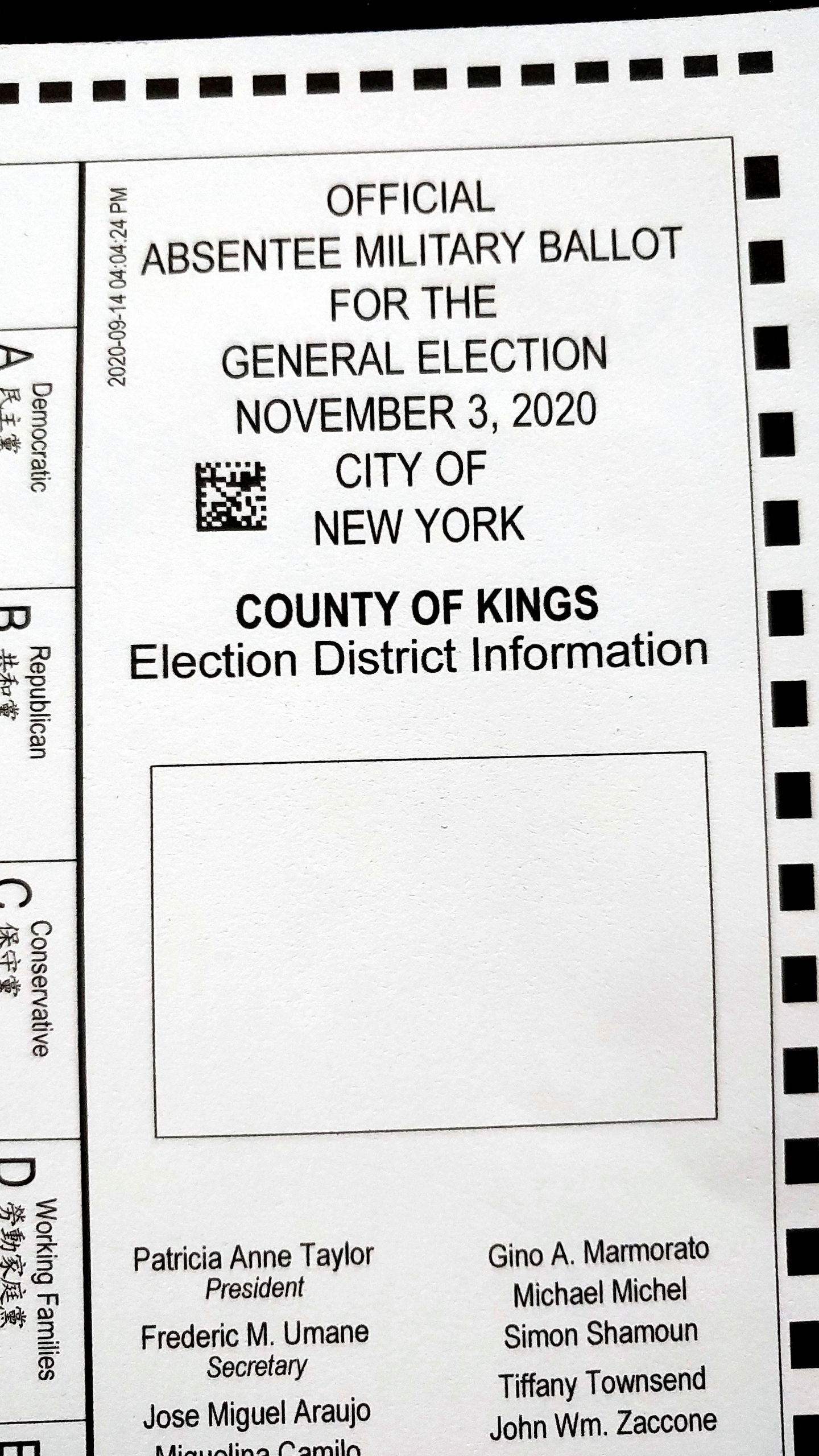 Error Leaves Thousands In Nyc With Flawed Absentee Ballots Fox 46 Charlotte