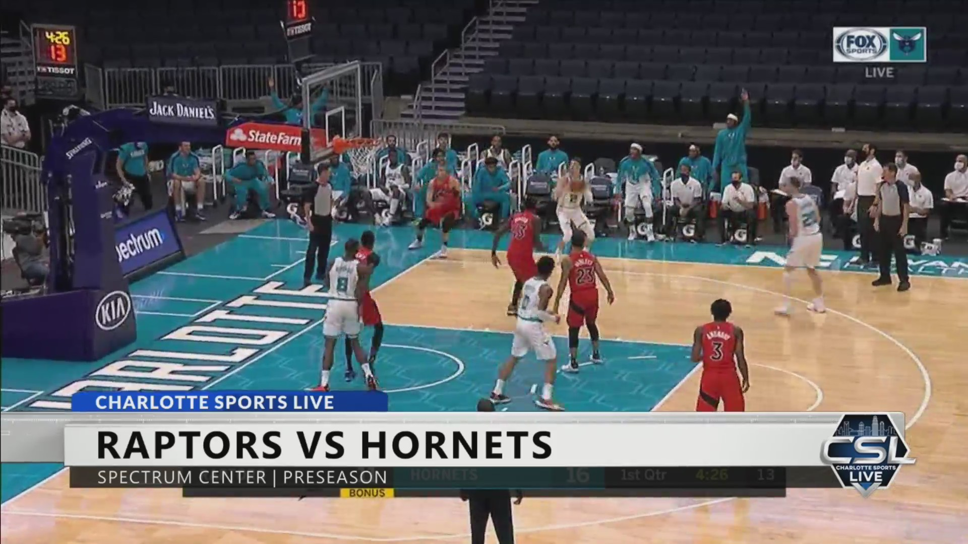 Hornets Fall To Raptors In Second Preseason Matchup Fox 46 Charlotte